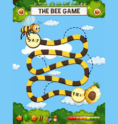 The bee board game vector