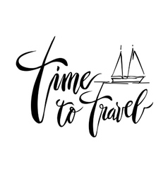 Time To Travel card vector