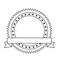 united states america circular emblem with vector image
