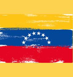 venezuela colorful brush strokes painted national vector image