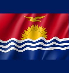 Waving flag of kiribati vector