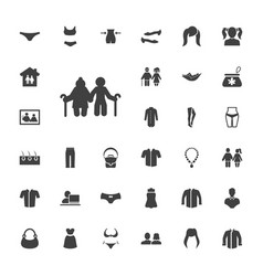 Woman icons vector