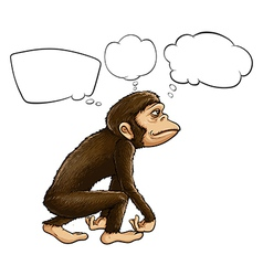 An ape thinking vector image