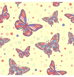 butterfly seamless yellow vector image vector image