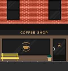 Exterior coffee shop brick texture flat design vector image