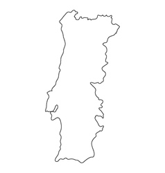 map portugal vector image