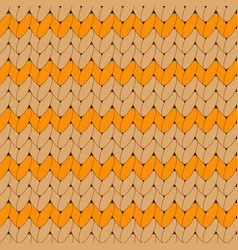 orange knitted scandinavian ornament vector image