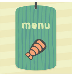 outline sushi shrimp japan food icon modern logo vector image vector image