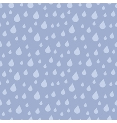 falling rain drops seamless pattern vector image