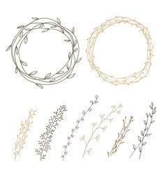 set of decorative vector image vector image