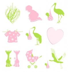 birth icon vector image vector image