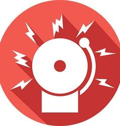 Fire Alarm Icon vector image vector image