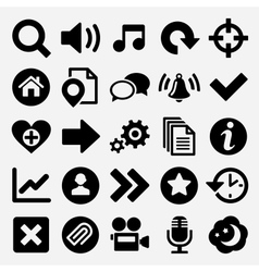 Games and web icons set vector image vector image