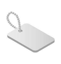 Metallic identification plate isometric 3d icon vector image