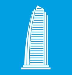 skyscraper icon white vector image vector image