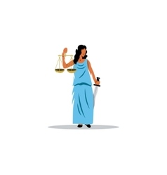 Themis sign The Mythological Greek goddess of vector image