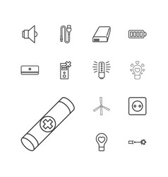 13 electricity icons vector