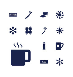 13 morning icons vector