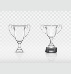 3d realistic cup transparent glass goblet vector image