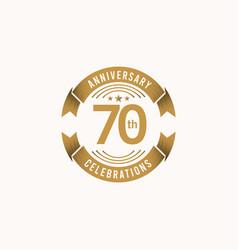 70 years anniversary celebration template design vector