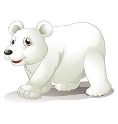 A big white bear vector image