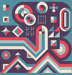 abstract geometric concept poster design graphic vector image