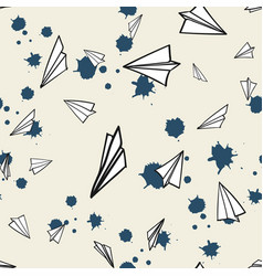abstract pattern seamless paper airplane vector image