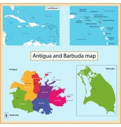Antigua and Barbuda map vector image vector image