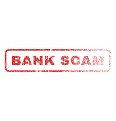 Bank scam rubber stamp vector