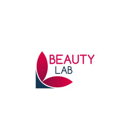Beauty lab icon vector