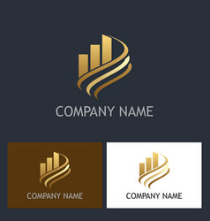 business finance gold company logo vector image