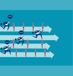 business people and winning race concept vector image