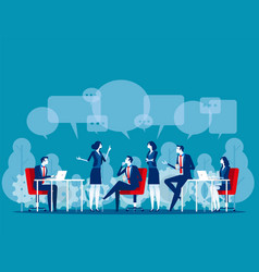 Business people talk concept vector
