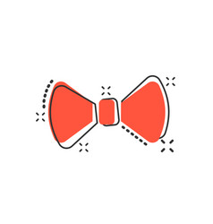 cartoon bow tie icon in comic style necktie sign vector image