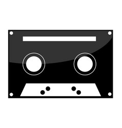 Cassette tape icon on white background vector