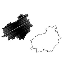 central kalimantan map vector image