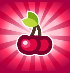 Cherry icon design vector