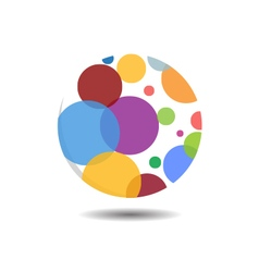 Circular Bubble Logo Icon vector