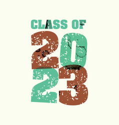 Class of 2023 concept stamped word art vector