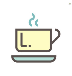 coffee in ceramic cup icon design for food vector image