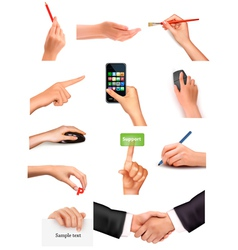 Collection of men and women hands vector
