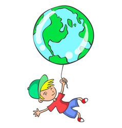 collection of world with child vector image
