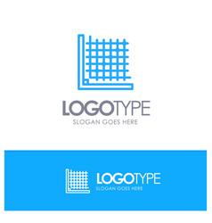 Color correction edit form grid blue outline logo vector