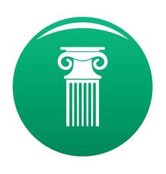 decorative column icon green vector image