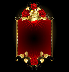 Design with Roses vector image