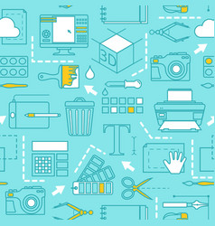 different tools for computer designers vector image