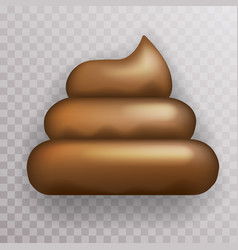 dirty poop crap shit icon transparent background vector image