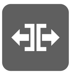 Divide Horizontal Direction Flat Squared vector