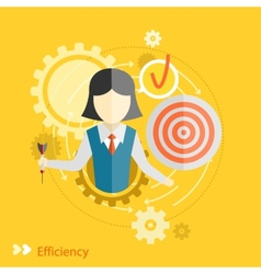 Efficiency gears teamwork concept vector image