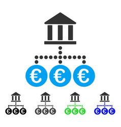 Euro bank transactions flat icon vector